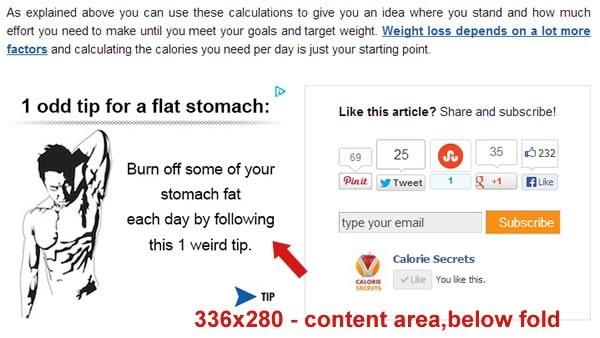 Calorie Secrets Adsense 2