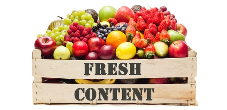 Content freshness is important for SEO