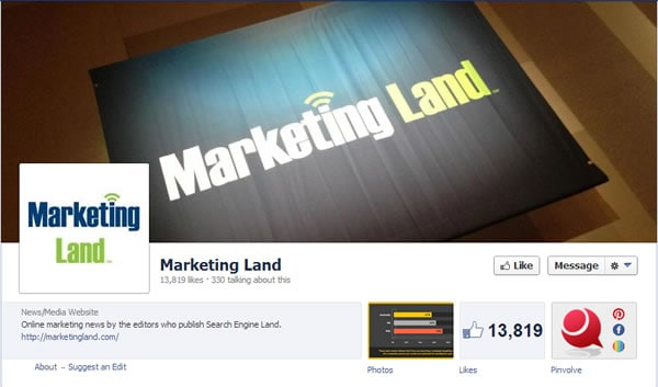 Marketing Land Facebook Page