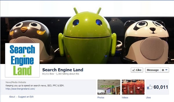 SearchEngineLand Facebook Page