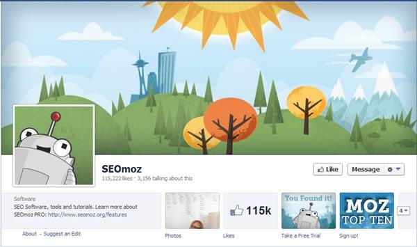 SEOMOZ Facebook Page