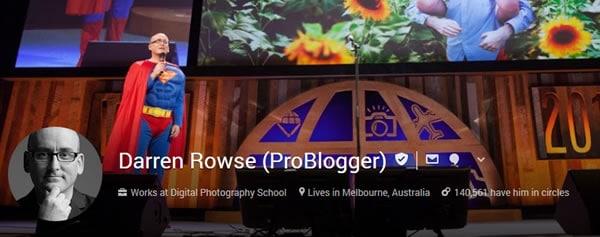Darren Rowse Google plus