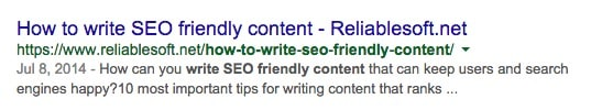 Good SEO titles