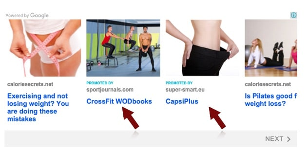 adsense promoted content