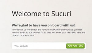 add website to sucuri