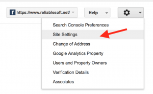 Webmaster tools - Site Settings