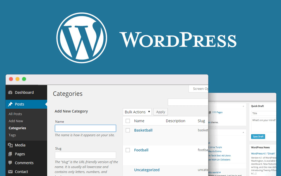 SEO wordpress categories and tags