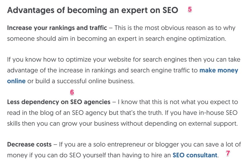 WordPress On Page SEO Example Part 2