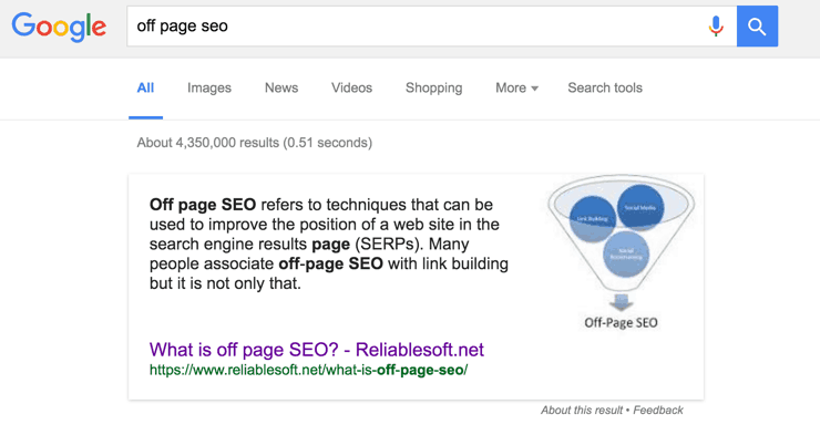 How to rank in Google's featured snippet