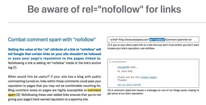 NoFollow Links best practices