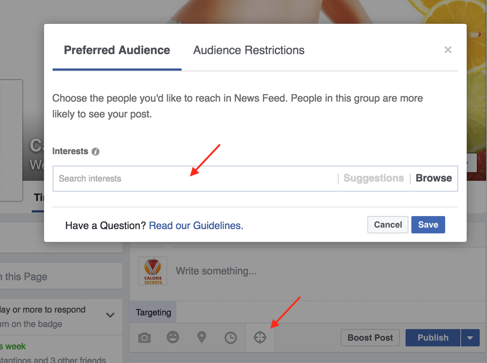 Facebook Post Targeting