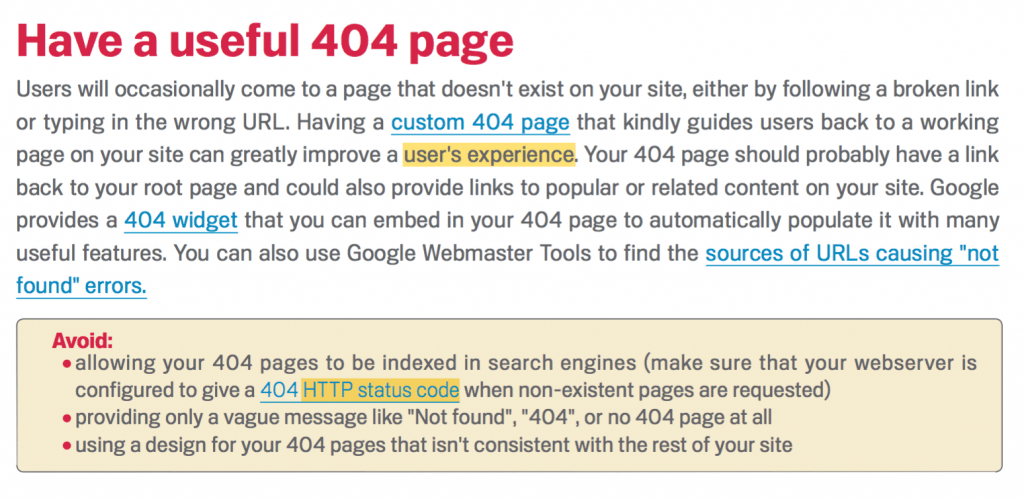 404 Page and SEO