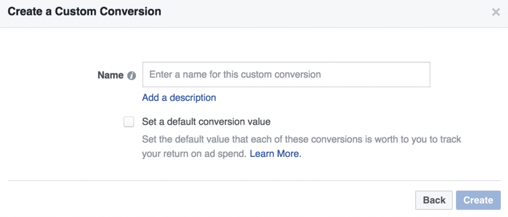 assign conversion value