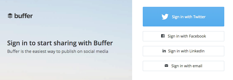 buffer call to action