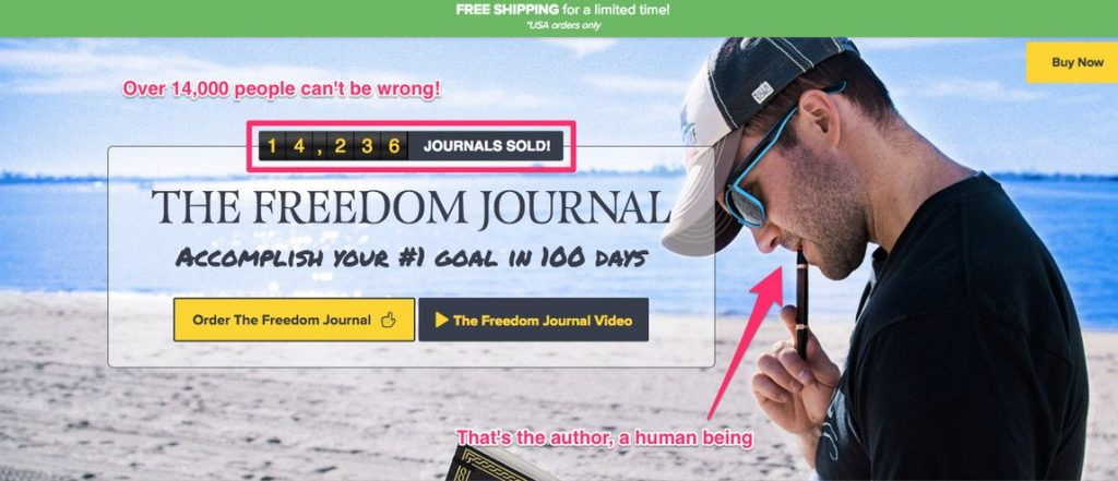 freedom journal landing page