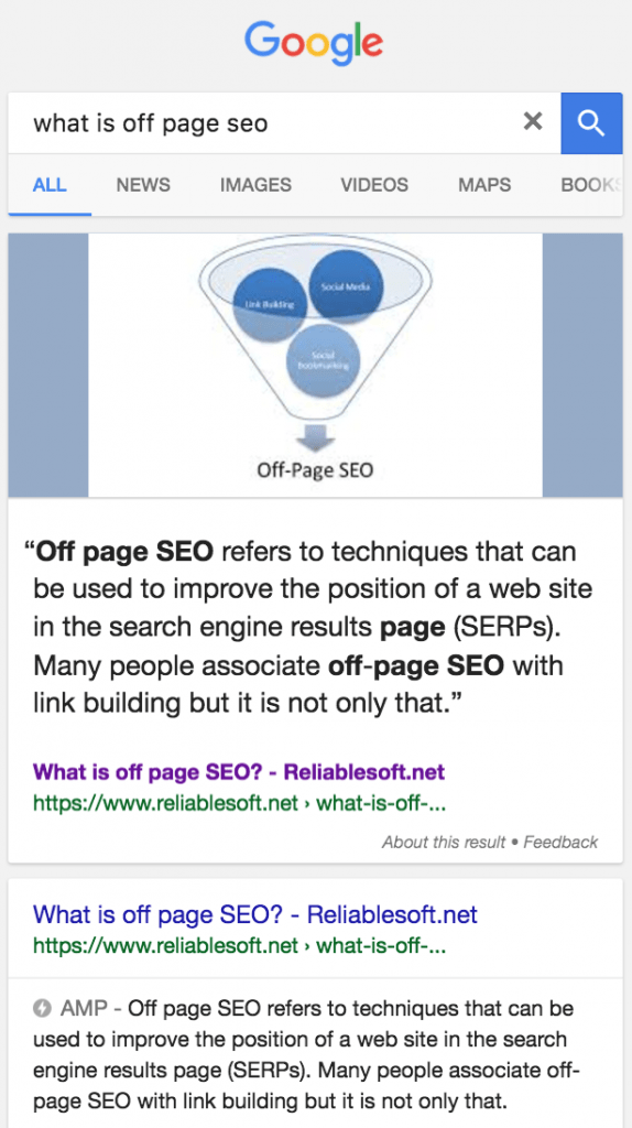 AMP Rich Snippets Example