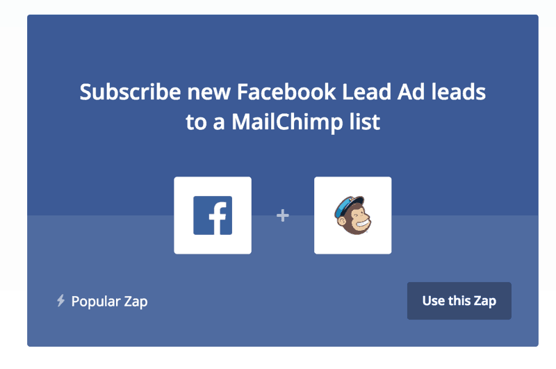 Integrate Facebook Ads with mailchimp