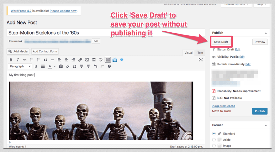 save wordpress posts