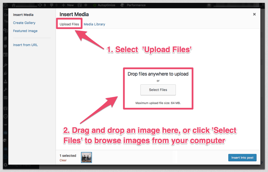 upload images to wordpress