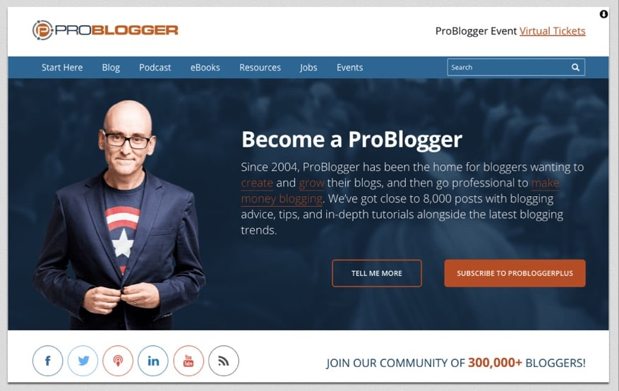 Example of WordPress Blog Homepage