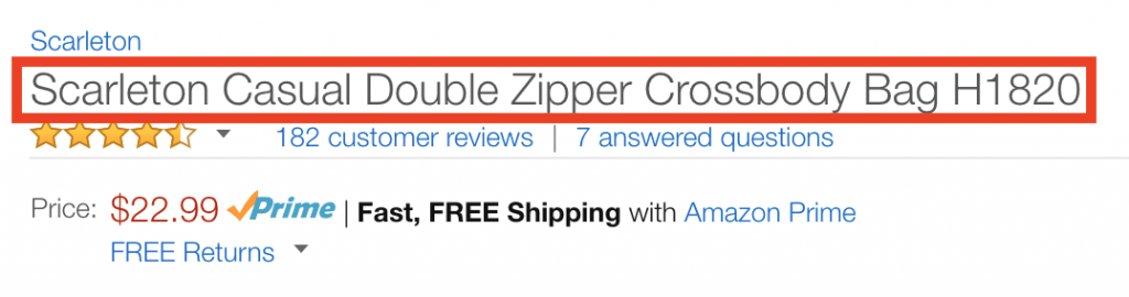 amazon product titles optimization