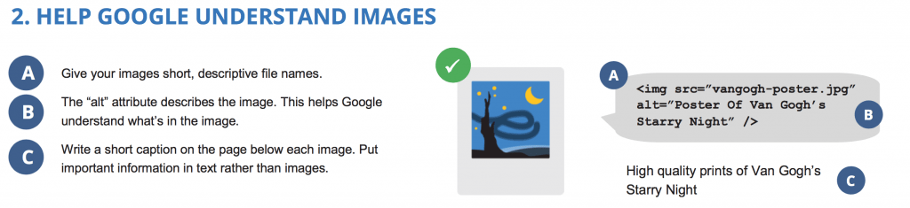 image seo guidelines from Google