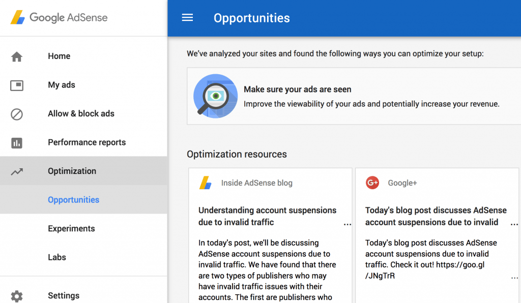 adsense opportunities