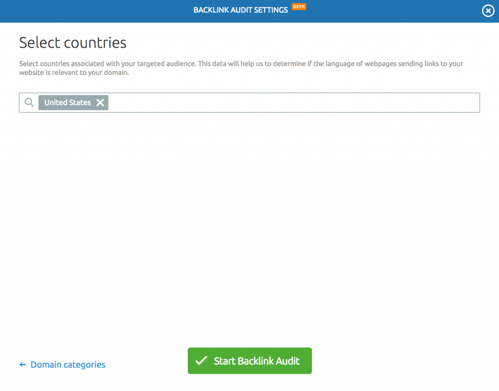 semrush backlinks country