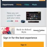 Amazon Homepage Mobile View