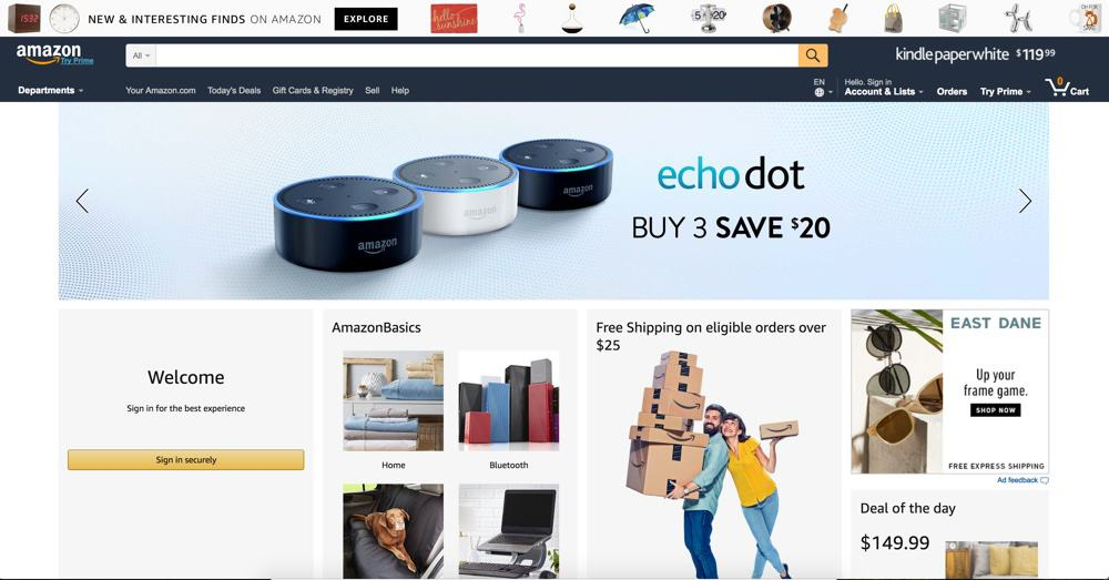 Shop SEO - Amazon Example