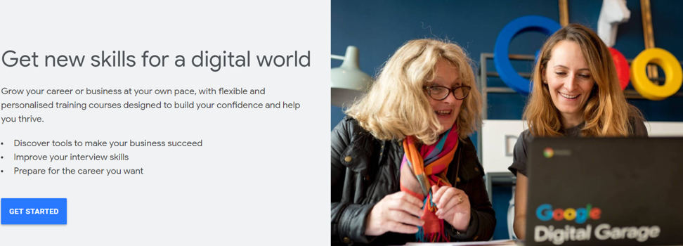 Digital Garage Courses by Google