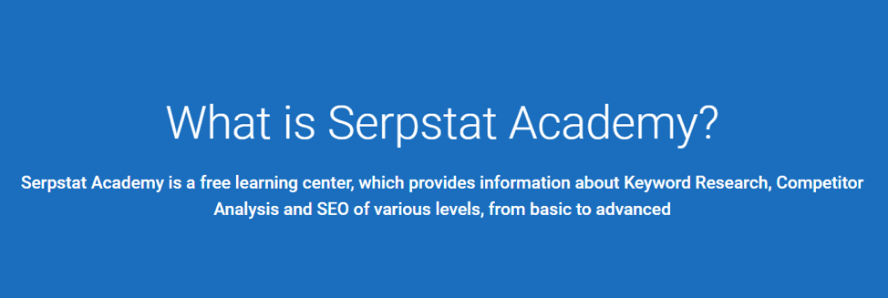 Serpstat SEO Training