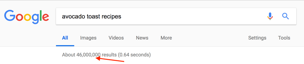 Number of Pages in Google Index