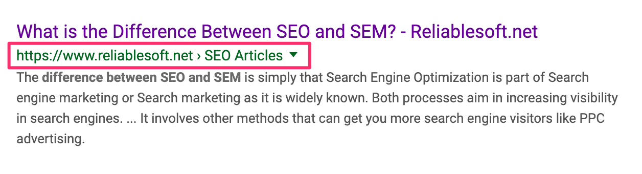 SEO Optimized Breadcrumbs