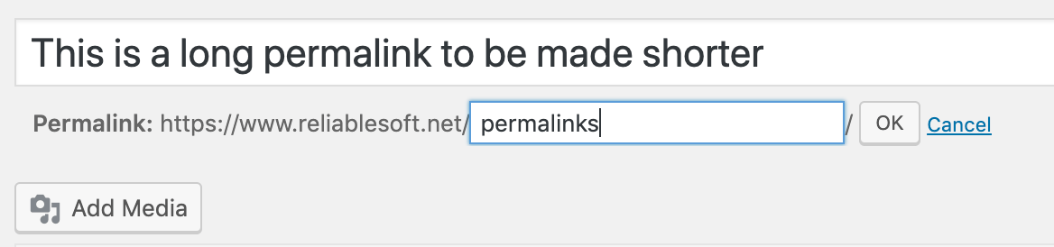 How to Change the Permalink of a Page