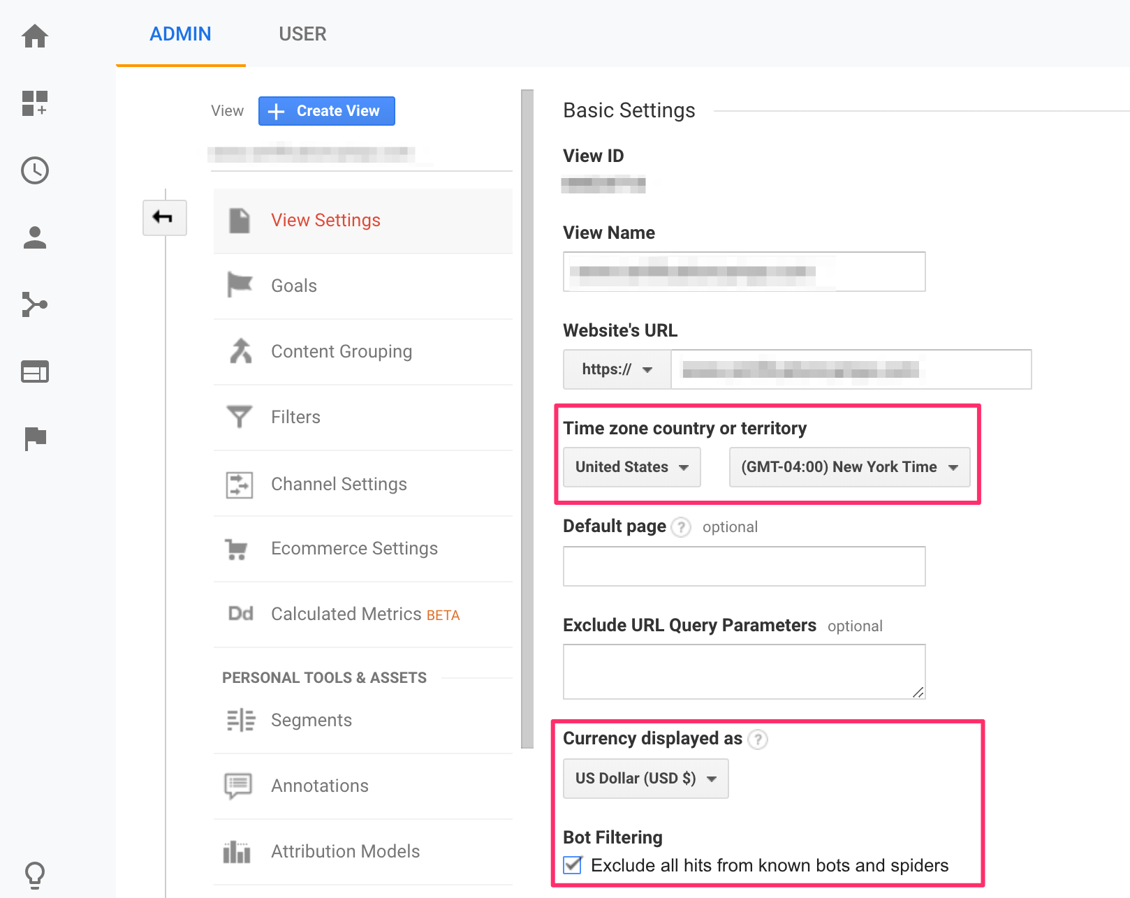 Google Analytics Basic Settings