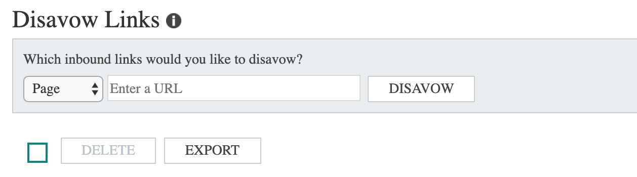 Bing Disavow Links Tool