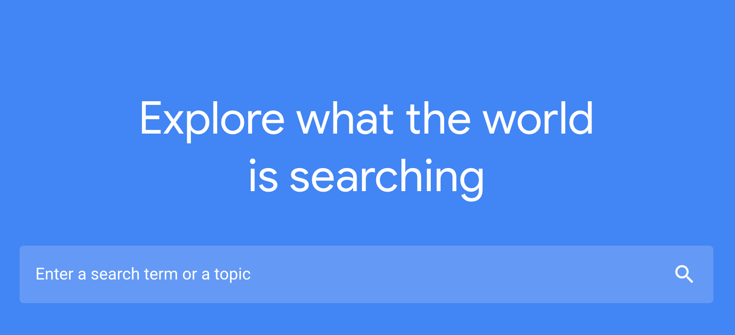 Find Search Terms using Google Trends