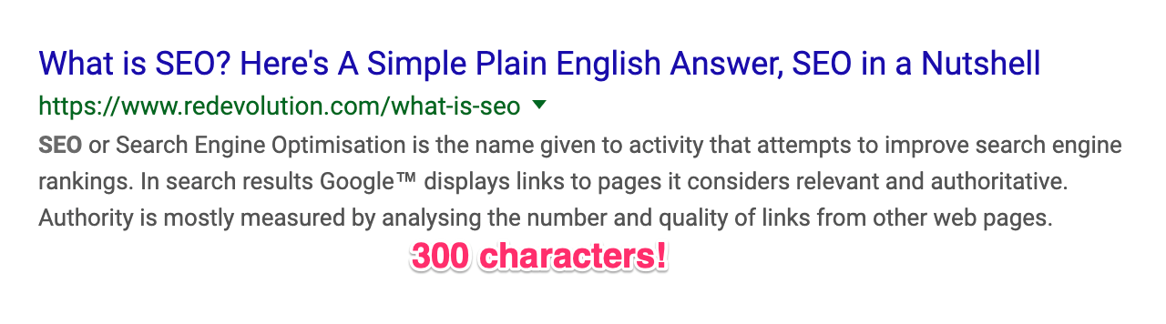 Meta description character limit