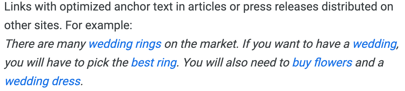 Anchor Text Guidelines