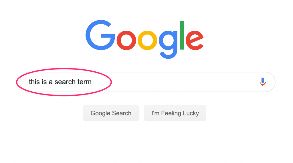 what is a search term