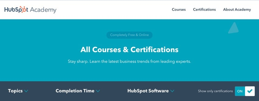 Hubspot Digital Marketing Academy