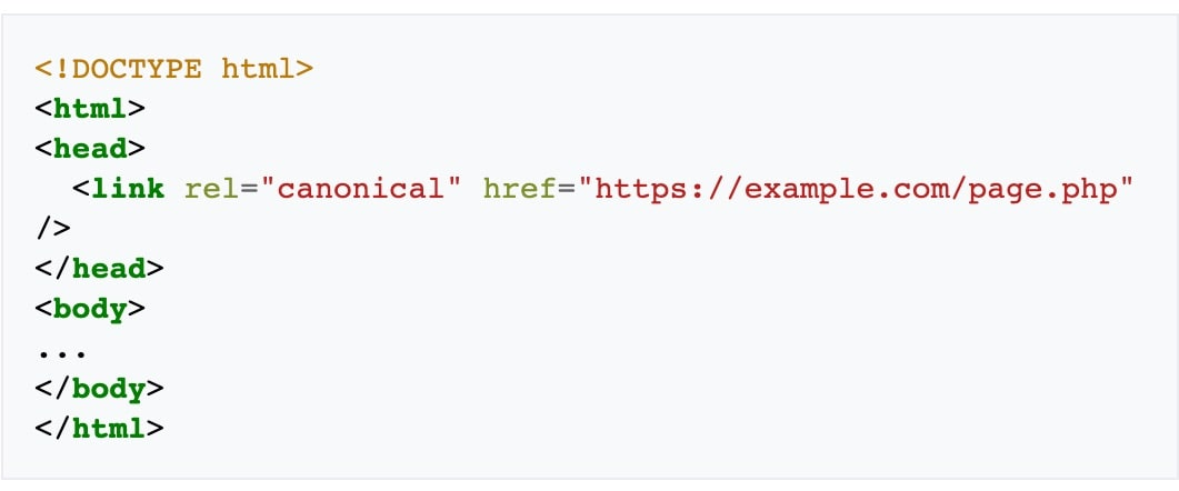 Canonical URL Example