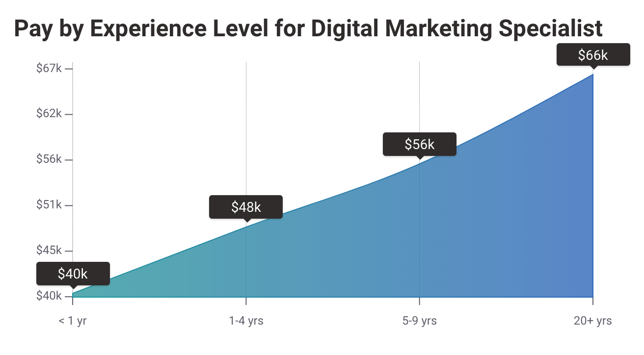 Digital Marketing Salary - Years of Experience