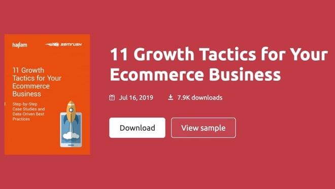 eBook: eCommerce Growth Tactics