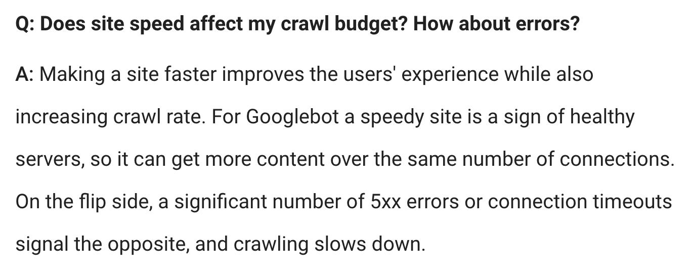 Crawl budget Guidelines