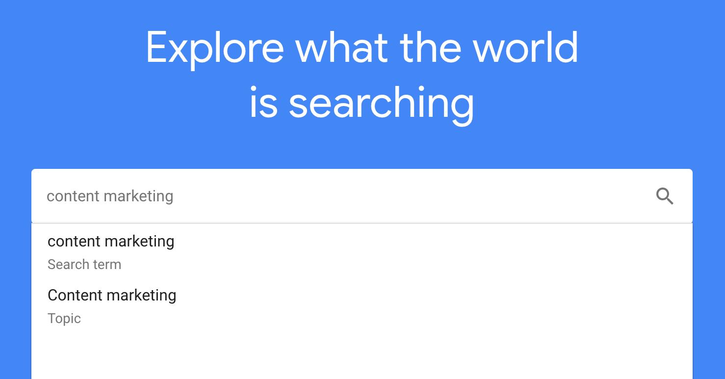google trends topics