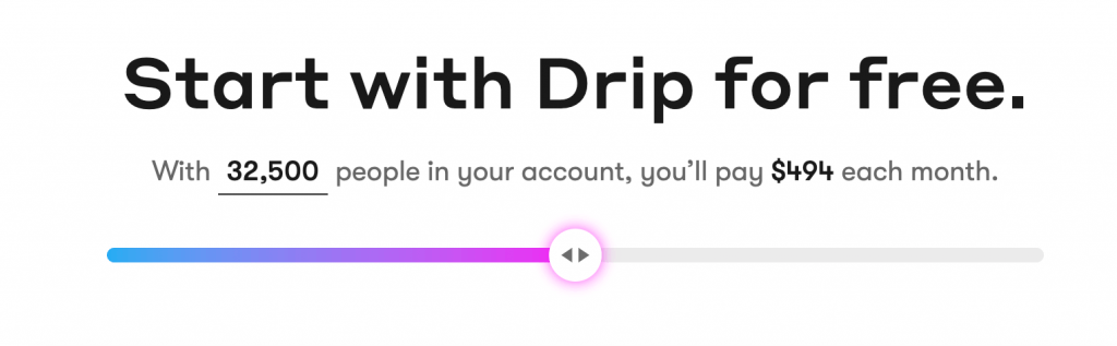 Drip Monthly Pricing Plans
