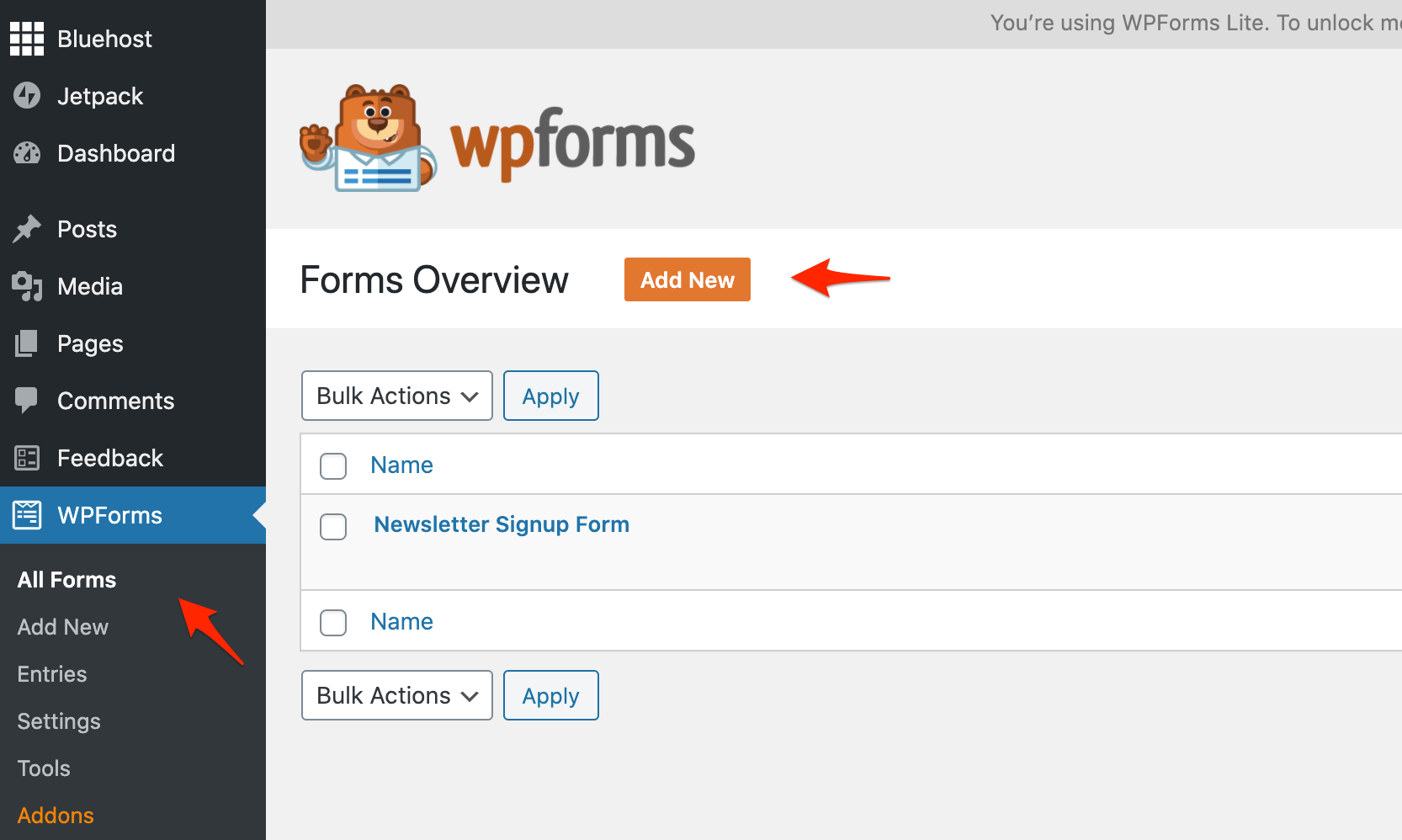 add a contact form to your website