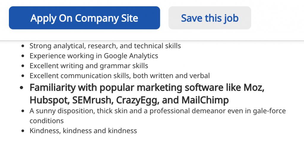 Publicación de empleos de marketing de contenidos